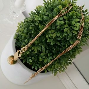 Triangle long necklace